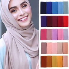 Turkey Chiffon Square 135x135   (Black, White, Navy Blue,different Grey's, different browns, pink, blue, Peach, )