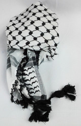 "51"" Black Arab Shemagh Head Scarf Neck Wrap Authentic Cotton Palestine Arafat Regular price$12.50 USD"