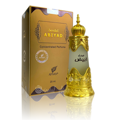 AFNAN CONCENTRATED PERFUME OIL SANDAL ABIYAD - PERFUME FREE FROM ALCOHOL