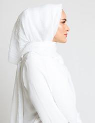 White Crinkle Hijab