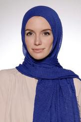 Royal Blue Crinkle Hijab viscose