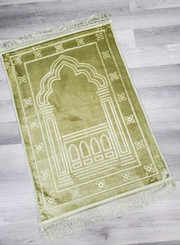 Cushioned Knee Support Prayer Mat (Golden Green)