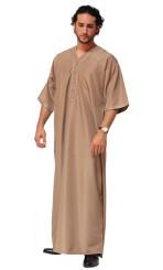 Moroccan style short sleeve mens thobe