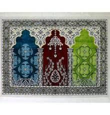 Wide 3 Person Prayer Rug Multicolored #17-5