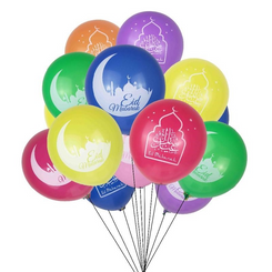 Colorful Eid Mubaraks Balloons (10 PACK)