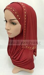 NEW Slip On Instant Amira Style VISCOSE on-the-go Hijab Scarf