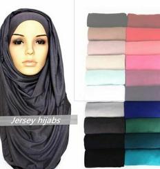Premium Cotton Jersey Plain Maxi Scarf Hijab Wrap Stretchable Head-wear Islamic