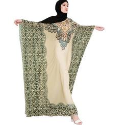 Ethnic style print women kaftan islamic fashion