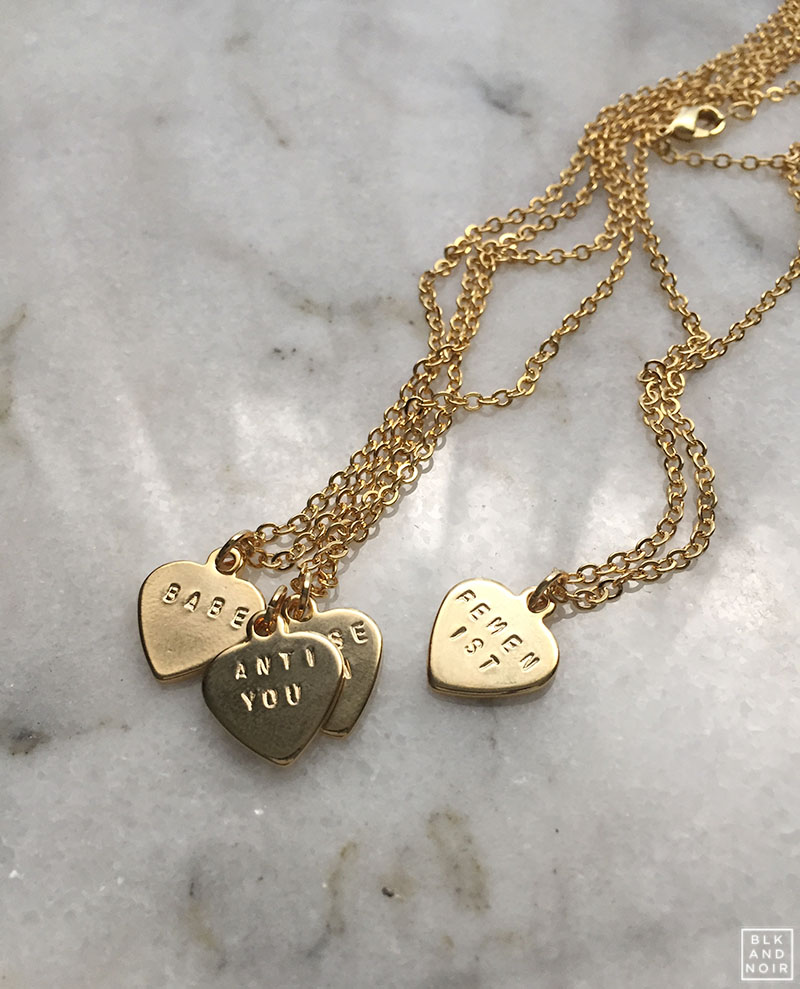 TINY CUSTOM MADE HEART NECKLACES