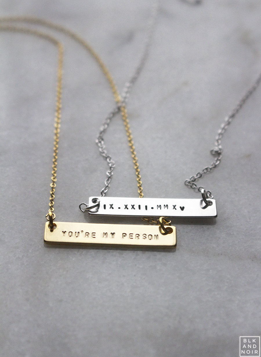 YOU'RE MY PERSON NAME PLATE NECKLACE