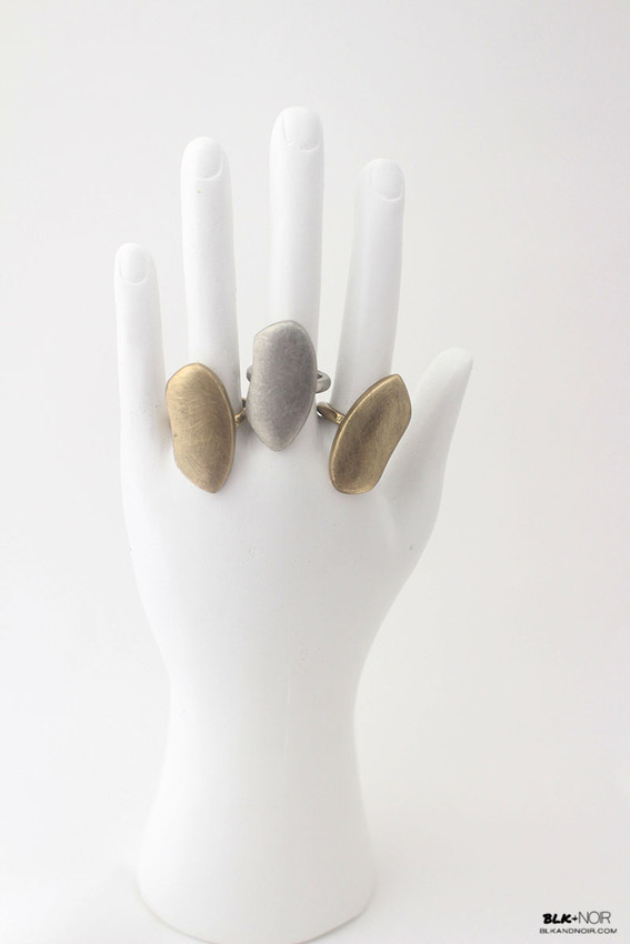 FreeForm Abstract Ring in Silver and Gold