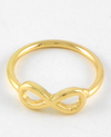 Gold Infinity Midi Ring // Infinity Above Knuckle Ring