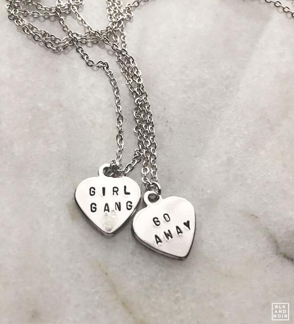 Go Away Heart Necklace