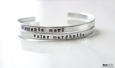 valar morghulis bracelet memento mori bracelet