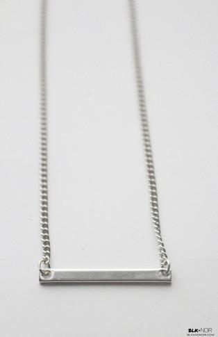 Minimal Silver Bar Necklace