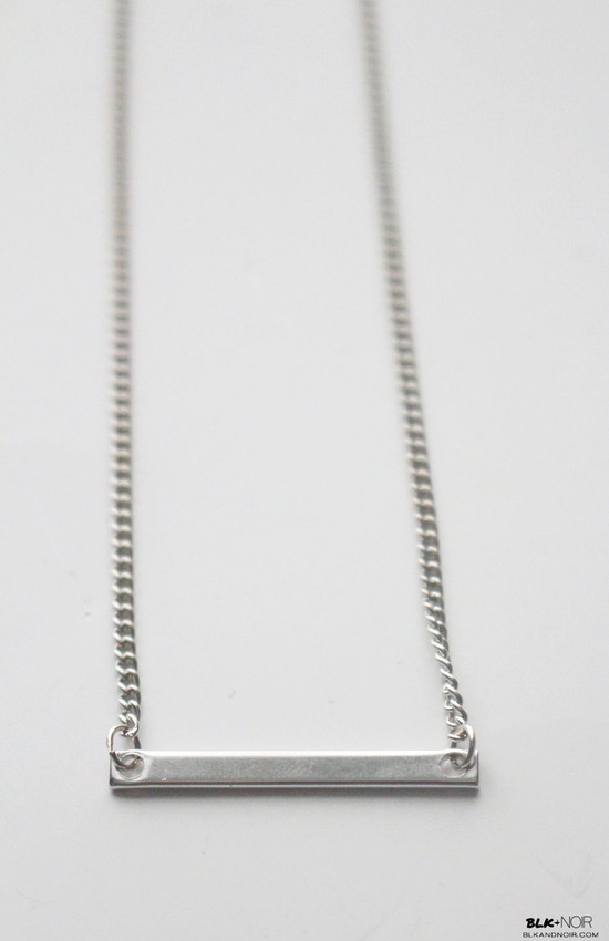 Minimal Silver Bar Necklace