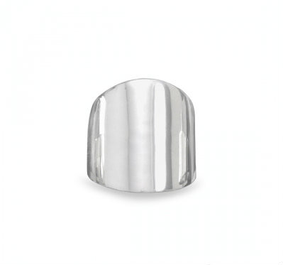 Silver Plain Cigar Band Ring