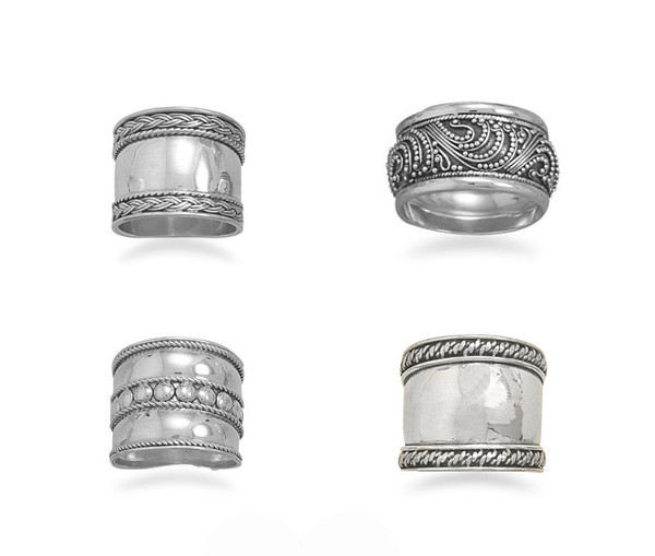 Sterling Silver Ethnic Bali Knuckle Ring