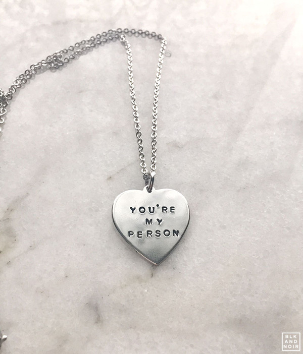 YOU'RE MY PERSON HEART NECKLACE
