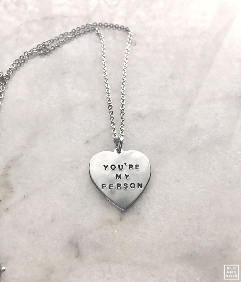 Youre My Person Heart Necklace Greys Anatomy Heart Necklace