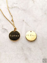 Personalized Coin Elena Name Necklace
