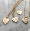 Tiny Gold Custom Heart Necklace