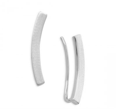 Sterling Silver Curved Bar Ear Climbers