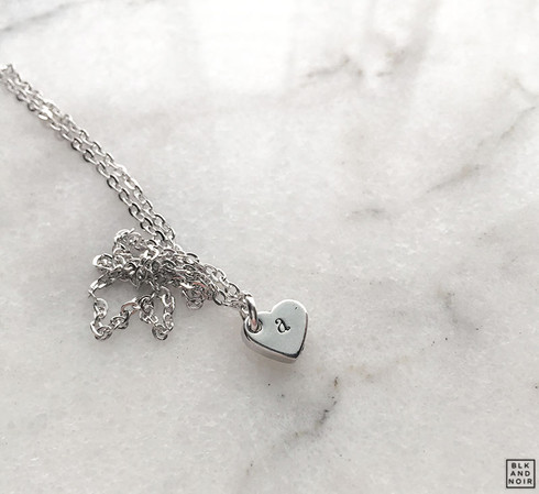 Tiny Alphabet Heart Necklace
