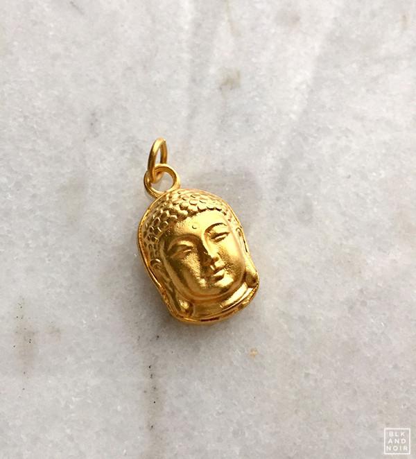 Vintage Gold Buddha Head Charm