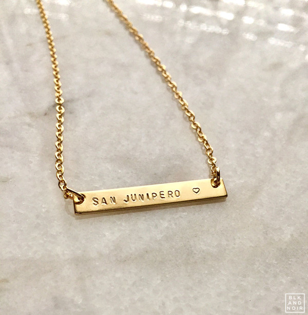 Small Nameplate Necklace  in Gold