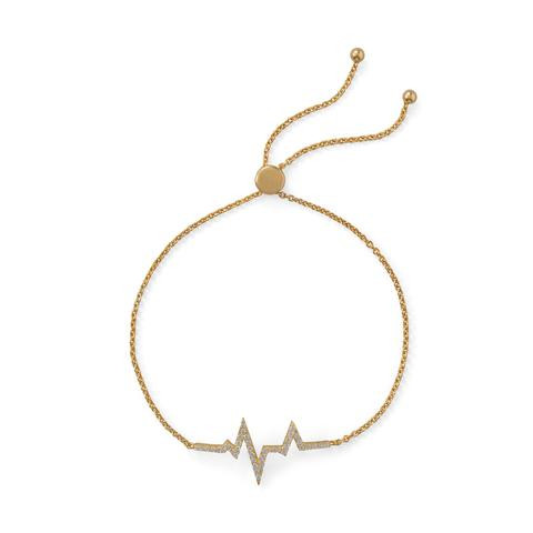 Gold Heartbeat Monitor Bracelet