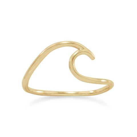 14 Karat Gold Beach Wave Ring