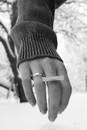 Barbro Andersen in Minimalist Silver Bar Ring
