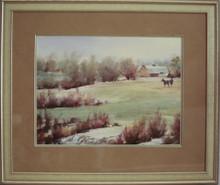 """""""Spring Pasture"""" watercolor by Jean Halverson"""