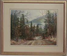"""Mountain Road"" watercolor by Jean Halverson"