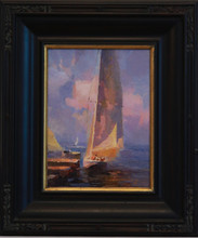 """Will be Happy Sailing"" oil by Calvin Liang"