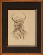 """""""Indian Chief"""" pencil by LF Bjorklund"""