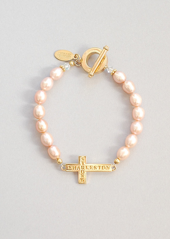 Charleston Strong Bracelet- Gold