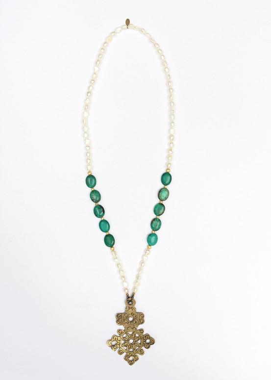 Holy City Cross Necklace- Gold