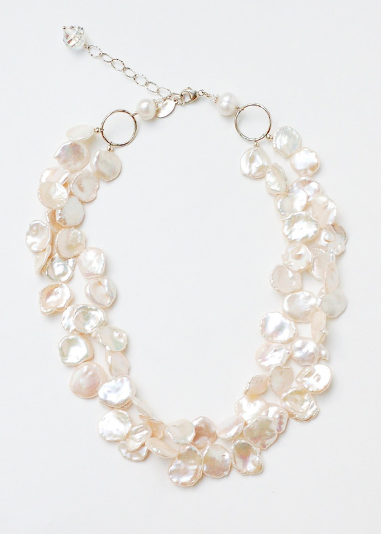 Keishi Pearl Necklace- White