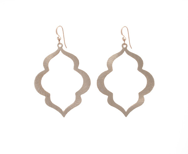 Taj Mahal Earrings- Gold