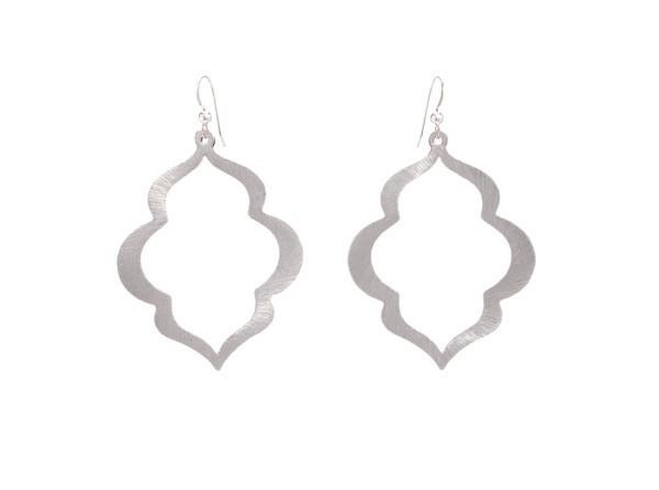 Taj Mahal Earrings- Silver