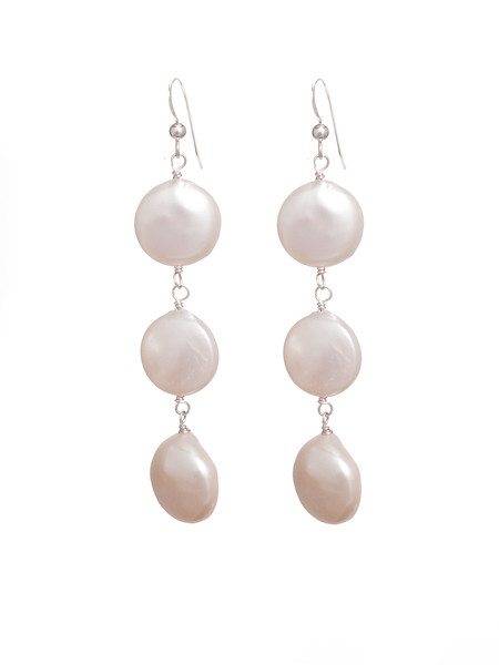 Classic Coin Pearl Earrings