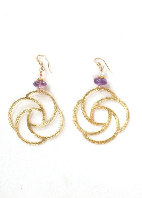 Magnolia Earrings- Amethyst