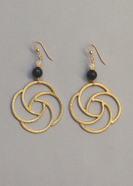 Magnolia Earrings- Onyx