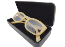 Anglo American high fashion classic retro tan coloured glasses  frames