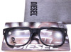 Diesel See 807 black acrylic frames with soft pouch