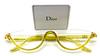 Half rim designer frames with their original case