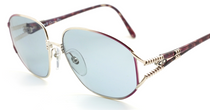 Christian Dior 2492 Vintage Sunglasses In Silver & Purple At eyehuggers