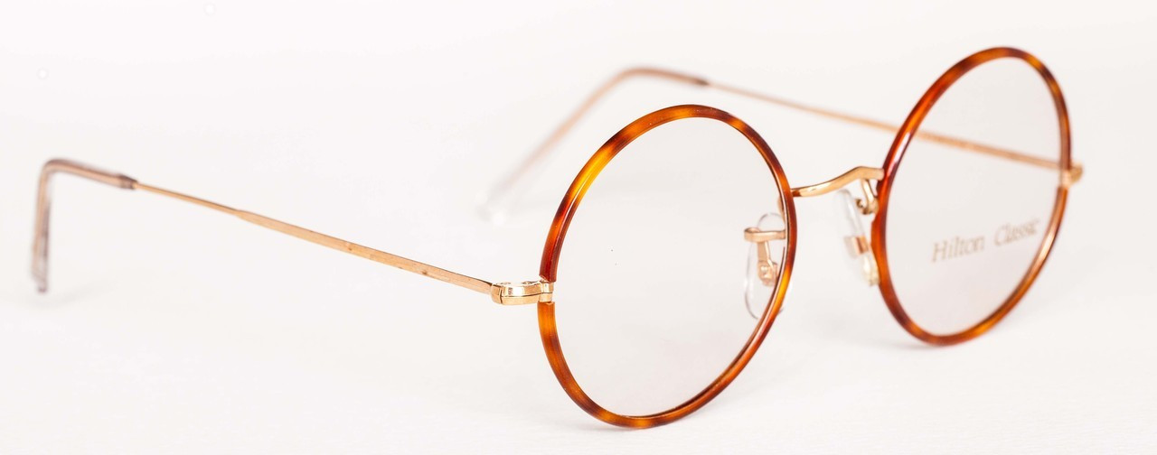 8f35b0c2a Home; HILTON CLASSIC True Round Vintage Frames 14kt Rolled Gold Round  Glasses With Blond 47mm Rims. Loading zoom